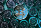 gorgeous-turquoise-bitcoin-coins-wallpaper